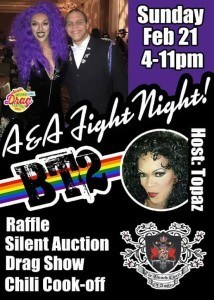 A&A Fight Night at Bout Time II, Sunday Feb 21st from 4-11pm