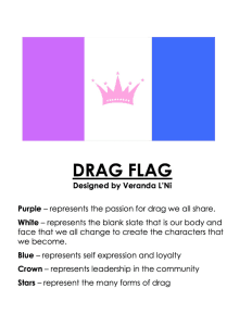 The Official Drag Pride Flag