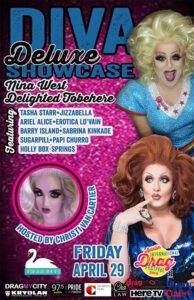 Diva Deluxe Showcase Featuring Nina West, Delighted Tobehere at the 2016 Austin International Drag Festival