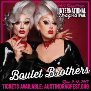 Boulet Brothers performing at the 2017 Austin International Drag Festival